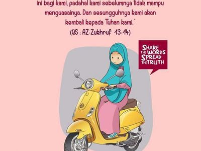 1010 Gambar Kartun Muslimah Naik Motor Hd Terbaru Gambar Kantun