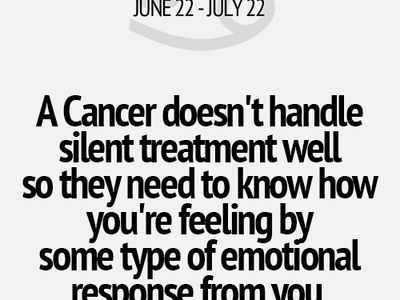 Being a Cancer