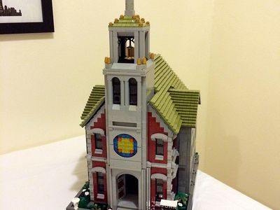 Lego Custom Modular Building Smokestacks Coffee Shop INSTRUCTIONS ONLY!