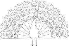 بارد مستدير مماثل رسومات طاووس للتلوين Assuranceanimaux Biz