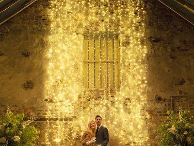 Barn wedding focal points