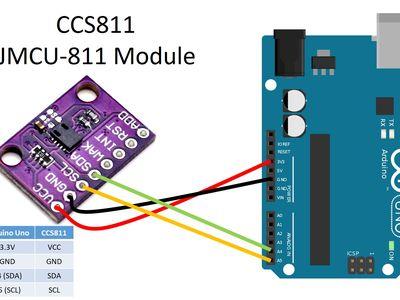 CJMCU-811 CCS811 Carbon Monoxide CO VOCs Air Quality Numerical Sensor ASS