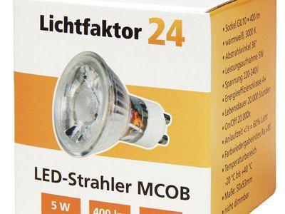 Power Led 230V GU10 MR16 5W = 50W Kaltweiss /& Warmweiss Leuchtmittel Licht HV NV