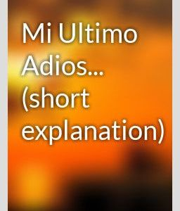 mi ultimo adios explanation