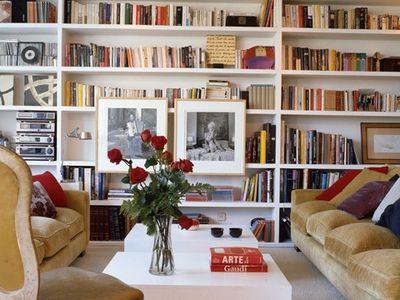 | bookcase + shelf |