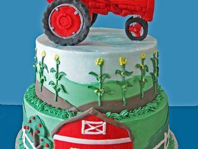 Tractor Cakes On Pinterest Tractor Cakes John Deere