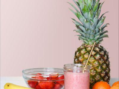 Ananas, Gurke, Apfel und Aloe zum Abnehmen