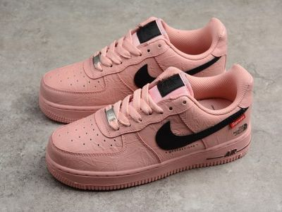 Supreme x The North Face x Nike Air Force 1 '07 Pink Black AR3066 800 For Women
