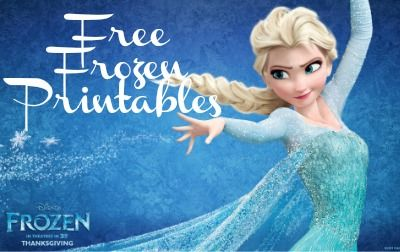 Current image in printable frozen birthday card