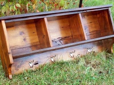 Rustic barn wood shelf