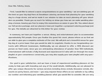 Proposal Letter Samples USA (proposallettersamplesusa) on Pinterest