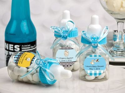Candy Gift Box for the Holidays Welcome Baby Birth Christening Birthday Baby Shower Blue//12pcs Newin Star Bottles Sweet Bottles Bottle