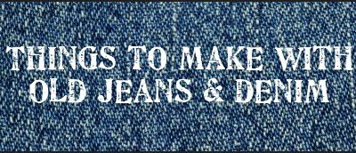 Things To Make With Old Jeans And Denim On Pinterest 303