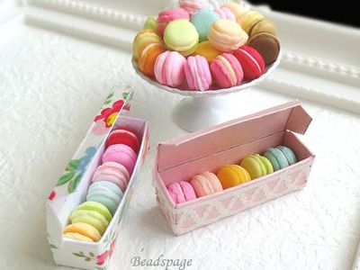 1//12 Dollhouse Food Dessert Colorful Macarons Different Tastes Set of 6PCS