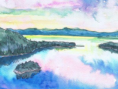 Watercolor & ink art (group board)