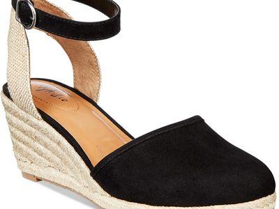 U-lite Womens 8cm Light Weight Elegant Style Slip on Espadrilles Wedges Pump Loafers