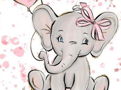 61X91CM ELEPHANT BABY BIG EARS POSTER NEW PRINT ART LAMINATED
