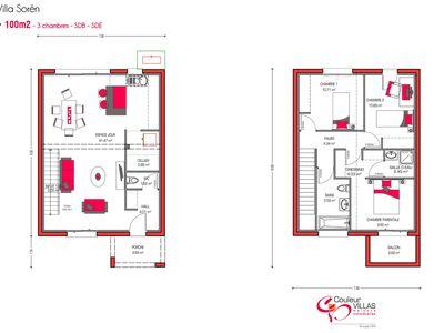 Claude N\u0027GOUMA (claudengouma) on Pinterest - Plan Architecture Maison 100m2