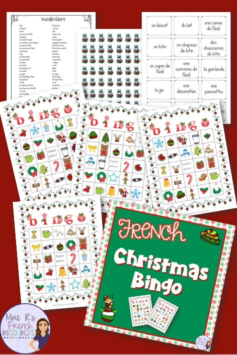 Excellent 30 Full Color French Bingo Boards Printable Vocabulary List Download Free Architecture Designs Grimeyleaguecom