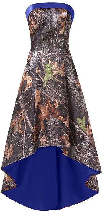 Dingzan High Low Camo Bridesmaid Prom Dress Wedding Party Reception Gowns Royal Blue 6 At Amazon Camo Bridesmaid Dresses Camo Wedding Dresses Camo Prom Dresses