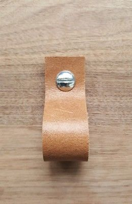 Details About Genuine Tan Brown Leather Drawer Pull Or Drawer