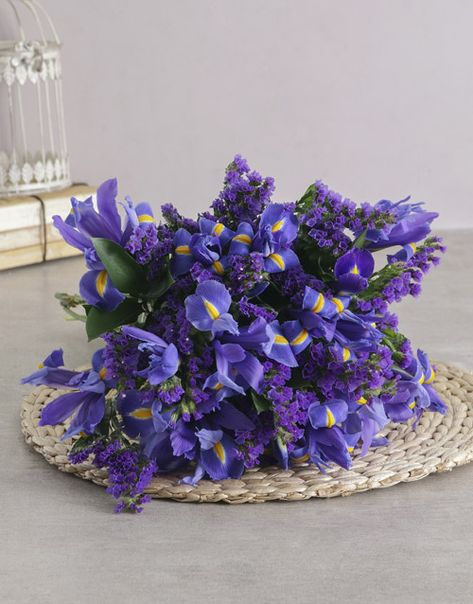 Dazzling Blue Iris Bouquet Iris Bouquet Iris Flowers Mothers Day Flower Delivery