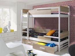 łóżko Piętrowe Tres 2 Osobowe Do Pokoju Młodzieżowego Kr