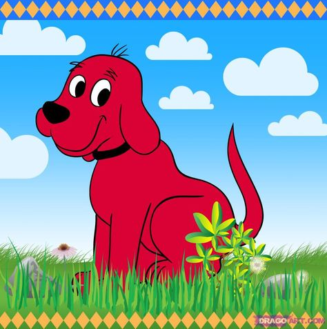 New Personalized Custom Clifford The Big Red Dog T Shirt Add Name Birthday