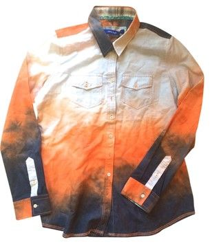 c93596e6cd4 Georg Roth Button Down Shirt Orange/Blue/Tie Dye | Tradesy SHOP ...