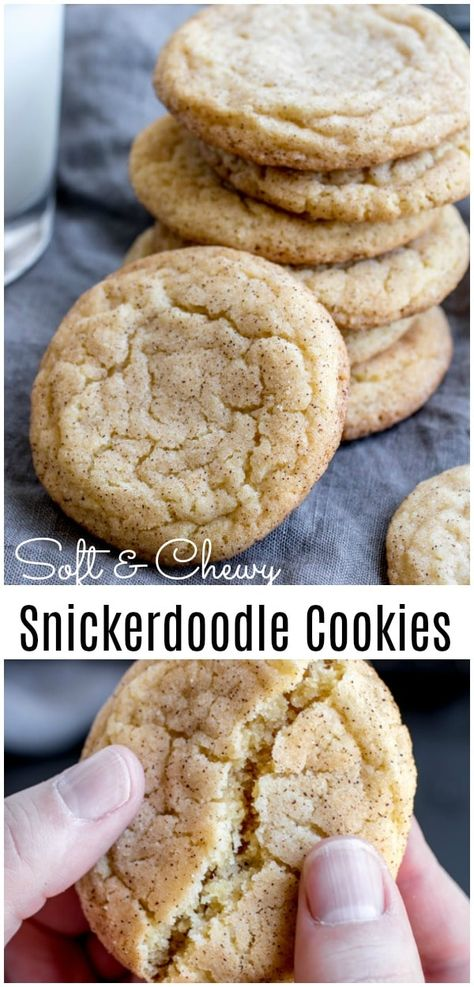 These are the BEST Snickerdoodle cookies made with Crisco shortening and butter, the middle is soft, chewy, and they are perfectly crisp on the edges. Put this easy snickerdoodles recipe on your Christmas cookies baking list. They are amazing all year long and make a great Christmas cookie exchange recipe. #christmascookies #cookies #baking #snickerdoodle #christmasbaking #cinnamon #homemadeinterest