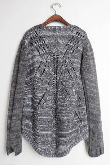 Gray sweater:: so love the back of this one!