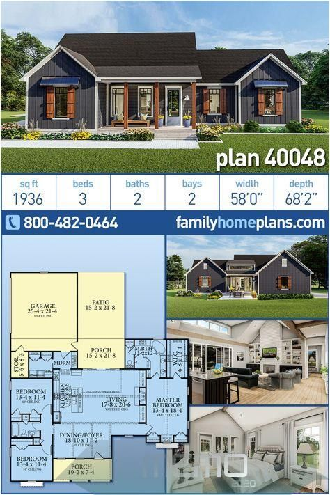 Mar 6 2020 Cottage Country Craftsman Farmhouse Ranch Southern Traditional House Country House Design Craftsman House Plans House Plans Farmhouse