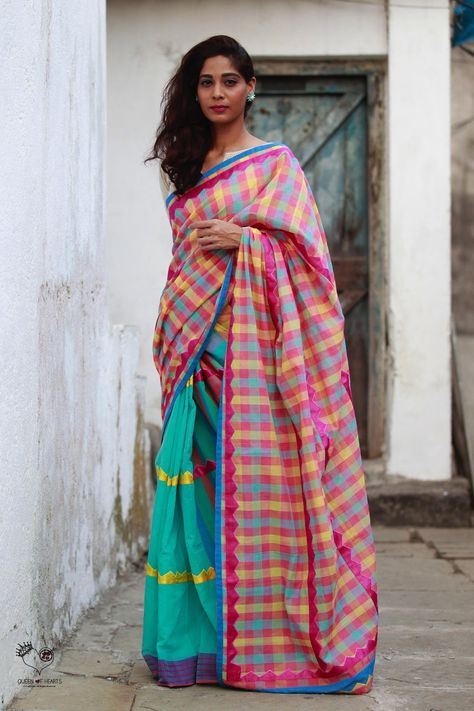 Queen of Hearts, the Contemporary Indian textile label by Deepa Mehta, Sarees, Deepa Mehta, Designer Saree, Queen of hearts, Queen of hearts sarees, shop designer sarees, Saree shopping in India, Queen of hearts collections,