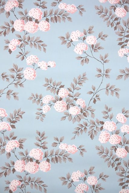 1950s Floral Vintage Wallpaper In 2019 Flower Background