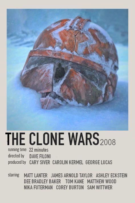 Minimalistic Clone Wars Poster