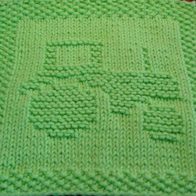 Tractor Knit Dishcloth Pattern ` a possibility because you have to do dishes on the farm. :)