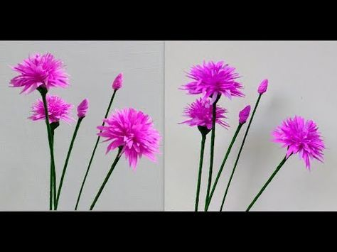 How To Make Paper Flowers Chives Flower 186 Youtube How To Make Paper Flowers Paper Flowers Paper Flowers Craft