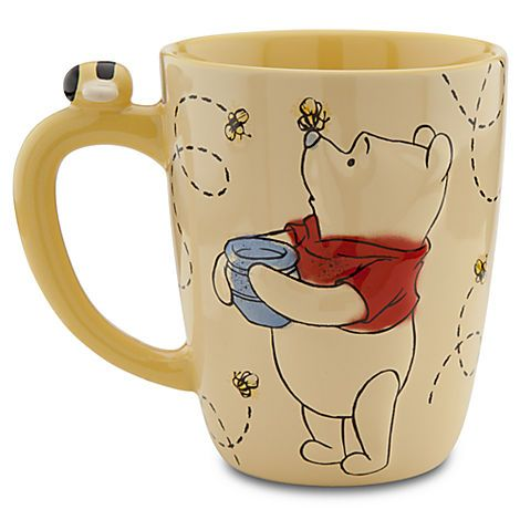 New Disney Store Winnie the Pooh Yellow Bees Coffee Tea Cup Mug