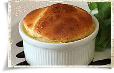 From the Ballyvolane House this soufflé has an airy, creamy texture that comes from grass-fed Irish butter and Dubliner cheese.