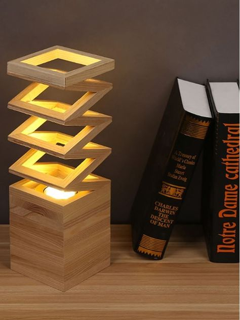 Creative Living Room Lighting Sunbotic Wooden Spring Lamp