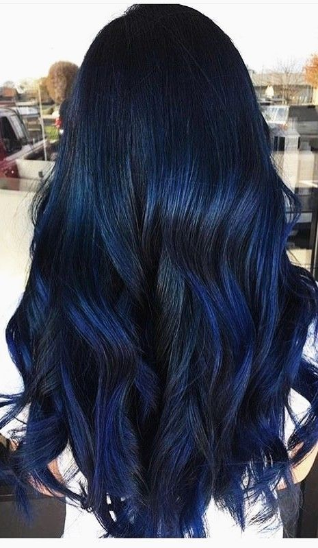 Skin N Beauty Image By Monce Noguez Blue Hair Highlights Hair