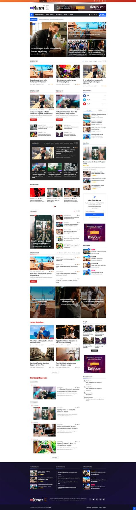 Kolyoum – Newspaper WordPress Theme