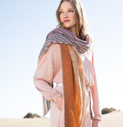 Lana Grossa 04 Wrap In Shades Of Merino Cotton Pdf Cotton Shawls And Wraps Merino