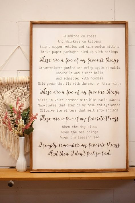 These Are a Few of My Favorite Things                      – Our Kindred Home