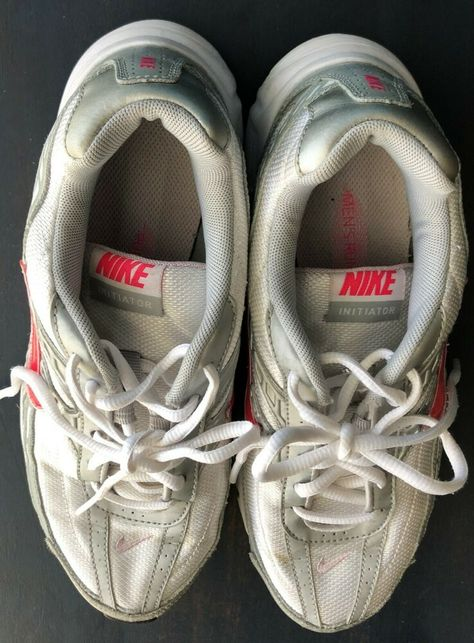 Nike Womens Athletic Shoes Initiator Walk Run 394053 101 Silver White Size 8.5  #Nike #RunningShoes #Casual