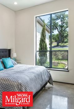 Make Your Bedroom Design Contemporary With Aluminum Series Windows With The  Trending Black/ Dark Window
