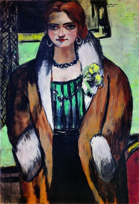 Max Beckmann (1884-1950)  Retrato de Naila (1934)  óleo sobre tela 136 x 92 cm
