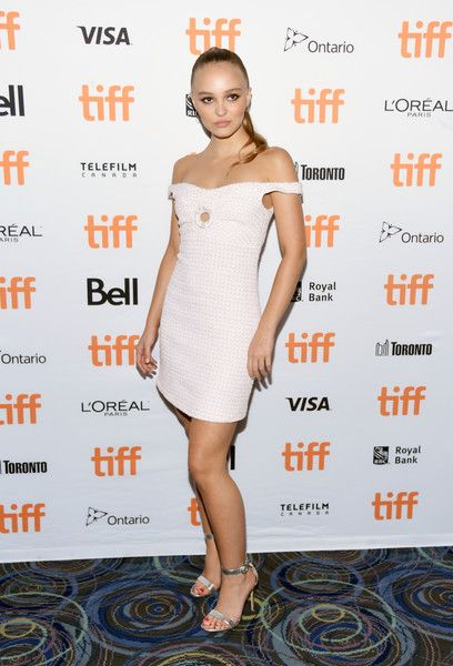 Lily-Rose Depp attends the 'A Faithful Man' premiere during 2018 Toronto International Film Festival.