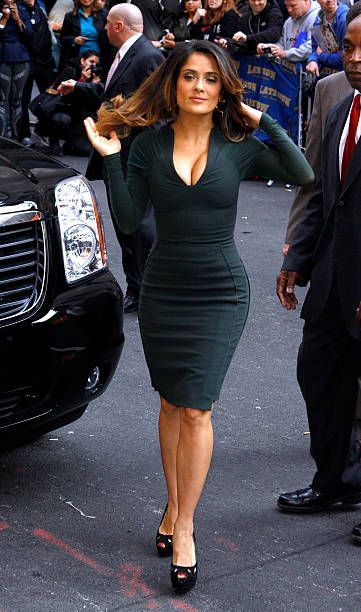 Salma Hayek arrives for the 'Late Show With David Letterman' at the Ed Sullivan Theater on October 24 2011 in New York City