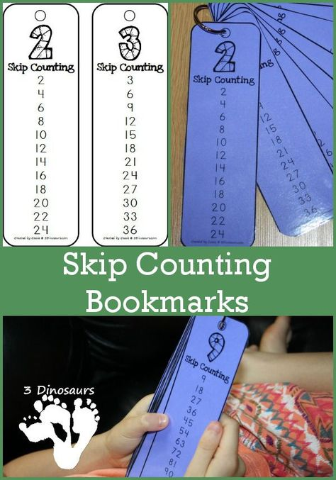 I love the idea of these FREE skip counting bookmarks! What a great way to remember to practice skip counting. Keep these in your math book and use them daily to learn and reinforce skip counting. Math Resources, Math Activities, Skip Counting Activities, Mental Math Strategies, Math Worksheets, Math Multiplication, Math Intervention, Second Grade Math, Grade 2
